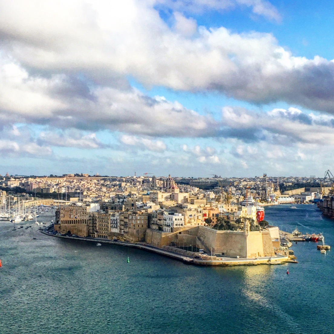 View of Birgu from Valletta