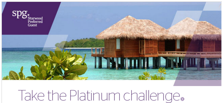 Shortcut to Earning SPG Platinum through SPG Challenge